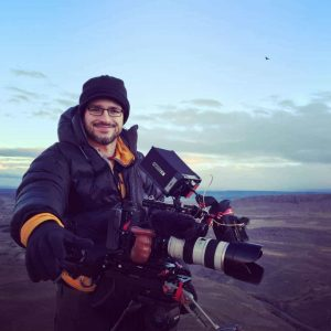 Cinematographer Theo Ribeiro during the Making of Land of The Wind